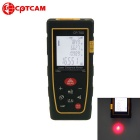 CPTCAM Portable Handheld 70m Laser Range Finder Meter - Black + Yellow (2 x AAA)