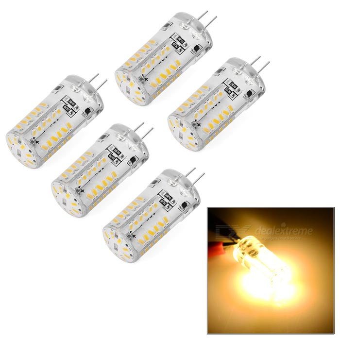 G4 Warm White Light 57-SMD 3014 LED Car Reading Lamp (5PCS / AC 12V)