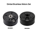 2 * Brushless Gimbal Motors para Mini cámara DSLR 5N / 6N / 7N - Negro