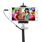 Serk Selfie Monopod w/ 3.5mm Cable, Holder, Rearview Mirror - Black