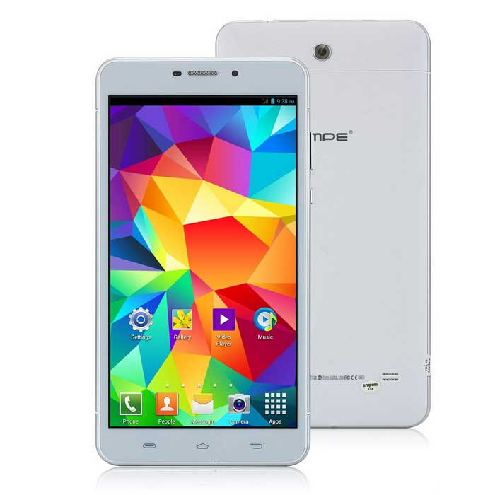 """AMPE A698 6.98"""" Dual-Core Android 4.2.2 3G Tablet PC w/ 8GB ROM, GPS, BT, Wi-Fi - White + Silver"""