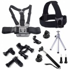 9-in-1 Outdoor Sports Accessories Kit for GoPro Hero 4 / 3+ / 3 / 2 / SJ4000 / SJ5000 / SJ6000