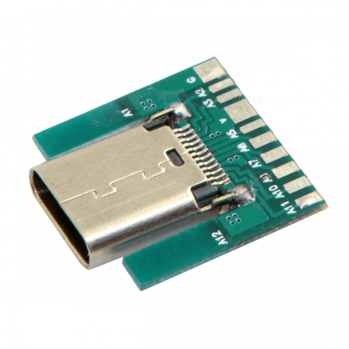 CY U3-206 SMT Type 24Pin USB 3.1 Type C Female Connector w/ PC Board