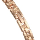 Women's Alloy Band Rhinestones Quartz Analog Watch - Golden (1*626)