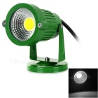 Waterproof 3W COB LED Spotlight / Lawn Lamp White Light 6500K 200lm - Grass Green (AC 85~265V)