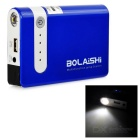 BOLAISHI 3100mAh Mini Car Emergency Launcher Jump Starter Power Bank w/ LED Torch - Blue