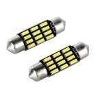 Festoon 36mm 2W LED Lights Cool White 38lm 12000K 12-4014 SMD (2 PCS / 12V)