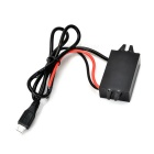 USB Male 12V/24V to 5V Voltage Power Converter Adapter Cable - Black