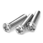 2mm M2x10 Stainless Steel Cross Round Head Screw / Bolt - Silver (100pcs)