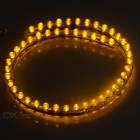 Wired 3W F5 LED Car License Plate Lamp Light Strip Yellow 590nm (2PCS)
