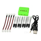 X4-011 4*200mAh Batteries + 1-to-4 Balance Charger + 4-Cables Set