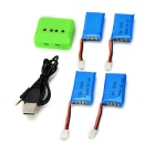 X4-004 4*3.7V 380mAh Li-polymer Batteries + 1-to-4 Balance Charger Set