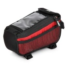 YANHO Bicycle Nylon Top Tube Bag for GPS / Cellphone - Red (1.5L)
