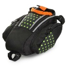 B-SOUL Bike Zippered Saddle Seat Tail Bag w/ Reflective Strip - Green
