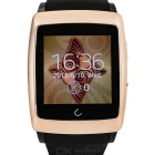 "Uwatch U18 Wearable 1.54"" Touch Screen Smart Watch w/ Bluetooth & Pedometer - Gold + Black"