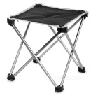 Ultra Light Aluminum Alloy Outdoor Foldable Square Fishing Chair / Camping Stool (Size L)