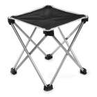 Outdoor Foldable Square Fishing Chair / Camping Stool - Black (L)