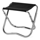 Utral-Light Aluminum Alloy Mini Folding Stool / Fishing Chair - Black