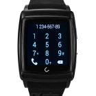 "Uwatch U18 Wearable 1.54"" Touch Screen Smart Watch w/ Bluetooth & Pedometer - Black"