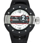 Herren Rubber Band Analog + Digital Dual-Display-Quarz-Sportuhr - Schwarz + Silber (1 x SR626SW)