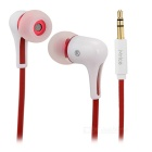 Mrice E300 Noise Insulation In-ear Earphones for Tablet PC / Cell Phone - White + Red