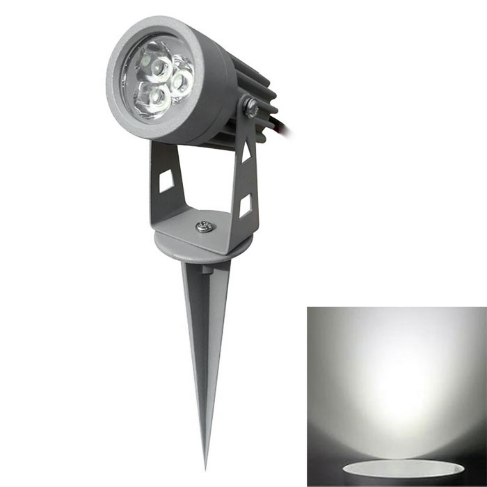 JIAWEN 3W 3-COB LED Insert Lawn Lamp White Light 270lm 6500K - GreyLandscape Lamps<br>Form  ColorGreyMaterialAluminum alloyQuantity1 DX.PCM.Model.AttributeModel.UnitWaterproof LevelIP65Power3WRated VoltageAC 85-265 DX.PCM.Model.AttributeModel.UnitEmitter TypeCOBTheoretical Lumens240~270 DX.PCM.Model.AttributeModel.UnitActual Lumens240~270 DX.PCM.Model.AttributeModel.UnitColor Temperature6000~6500KDimmableNoBeam Angle30 DX.PCM.Model.AttributeModel.UnitInstallation TypeOthers,WiringOther FeaturesPower cord: 30cmPacking List1 x  Lawn lamp1 x  Stand<br>