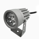JIAWEN 3W 3-COB LED Insert Lawn Lamp White Light 270lm 6500K - Grey