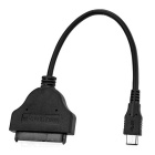 "Cwxuan USB 3.1 Type-C to 1.8"" Micro SATA HDD / SSD Drive Cable - Black (23cm)"