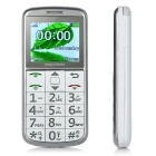 "DaXian 2.0"" Dual SIM Card Slots GSM Phone w/ SOS Emergency Call / Big Keypad / MP3 for Elder - White"