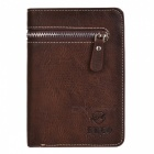 Men's Stylish Top Layer Cowhide Purse Wallet - Dark Coffee