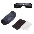 ReeDoon Men's Resin Lens Polarized Driving Sunglasses - Black + Grey