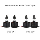 MT2810Pro 750KV CW & CCW Brushless Motors Set for Multirotor Quadcopter - Black