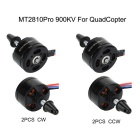 MT2810Pro 900KV CW & CCW Brushless Motors Set for Multirotor Quadcopter - Black