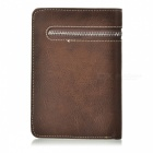 Men's Stylish Top Layer Cowhide Purse Wallet - Light Coffee