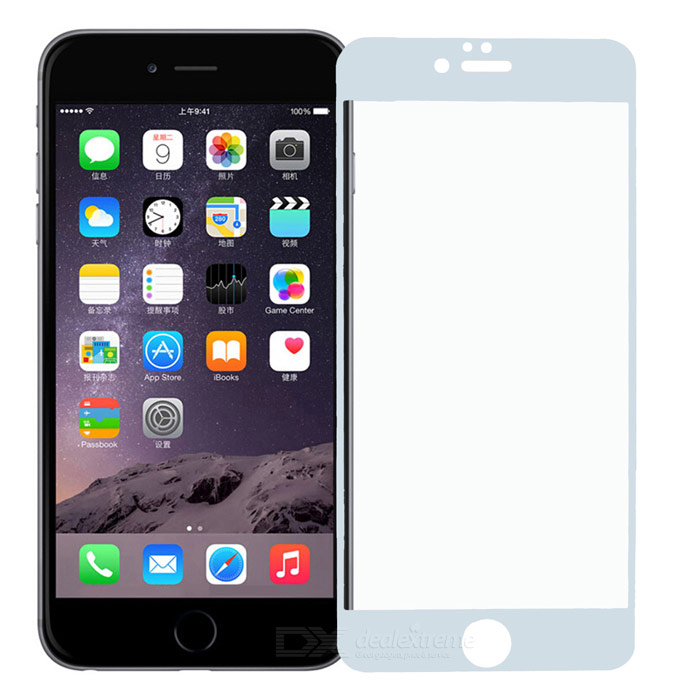 PUDINI Anti-Blue-Ray Tempered Glass Film for IPHONE 6 PLUS - White