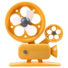 Cute Projector Style Mini USB 2.0 3-Blade 1-Mode Fan - Orange