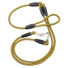 1-to-2 Training Traction Rope for Pet Dog - Yellow + Black (130cm)