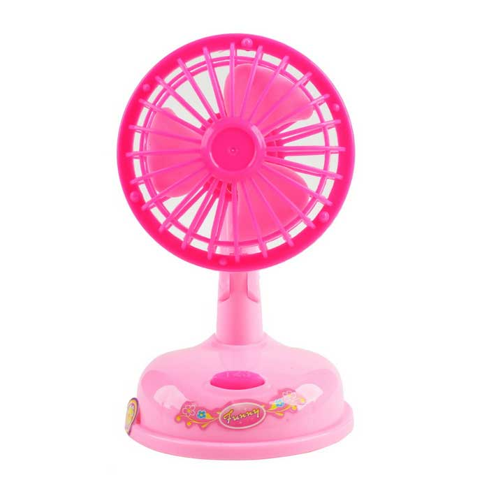 Cute Mini Small Home Appliances Series Electric Toy Motor Fan (2*AA)