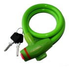 ROBESBON Anti-Theft Security Bicycle Wire Lock for Mountain Bike - Green + Red (1m)