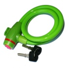 ROBESBON Anti-Theft Bicycle Wire Lock for Mountain Bike - Green (1m)