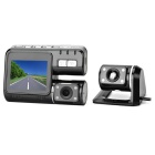 "MAIKOU X-550 2.0"" TFT HD 170' Wide-Angle Car DVR Dual Cameras - Black"