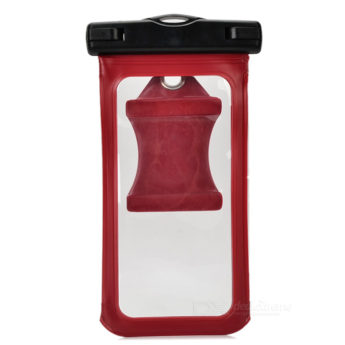 Waterproof Pouch w/ Armband, Carabiner for IPHONE 6 PLUS - Wine Red
