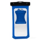 "Protective Waterproof PVC Case Pouch w/ Strap / Armband / Carabiner for IPHONE 6 PLUS 5.5"" - Blue"