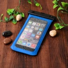 Funda impermeable con brazalete, mosquetón para IPHONE 6 PLUS - azul