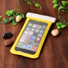Waterproof Case Pouch w/ Armband, Carabiner for IPHONE 6 PLUS - Yellow