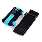 Outdoor Nylon Sports Armband for Samsung + IPHONE + More - Blue+Black