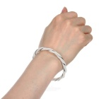 Women's Fashionable Silver Plated Bracelet Bangle - Silver