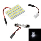 T10 / Festoon 1.5W 24-LED Car Reading Lamp Cold White 12000K (12V)