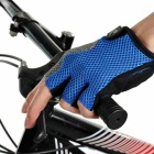 MOke Outdoor Cycling Half-Finger Gloves - Black + Blue (M / Pair)