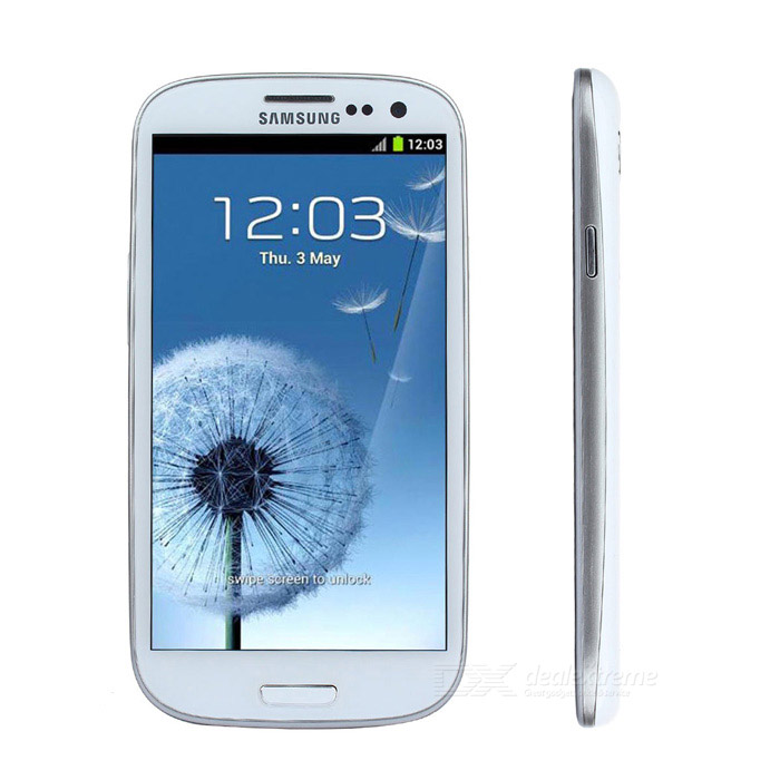 Samsung Galaxy S3 i9300 firekjerners Android 4.1 WCDMA telefon med 4,8-tommers HD IPS, 8MP, NFC, GPS, Wi-Fi - hvit